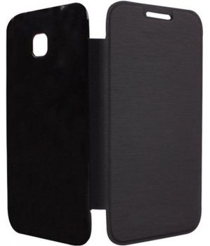 the best attitude b32bd bfdfd Micromax Canvas Fire A093 Flip Cover (black)