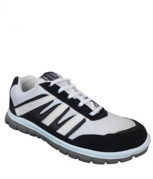 Buy Elvace White-Black Walkers Sports Men Shoes online