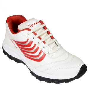Buy Elvace White-red Fixon Sports Men Shoes-8028 online