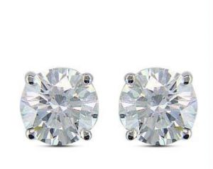 1 00 Cts Certified Solitaire Real Diamond Earrings Online