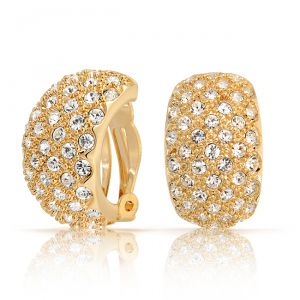 Buy Sheetal Diamonds 0.80tcw Real Round Diamond Designer Hoop Earring For Woman E0398-14k online