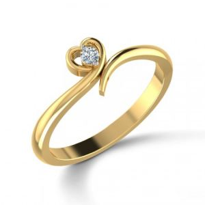 Buy Real Natural Diamond Valentine Ring For Your Loved at Rs 999