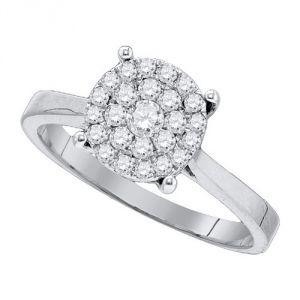 Buy Sheetal Diamonds 0.60tcw Real Round Diamond Cluster Ring R0179-14k online