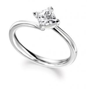 Buy Sheetal Diamonds 0.15tcw Simple Looking Real Round Princess Diamond Ring For Best Wedding Gift R0255-14k online
