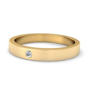 Buy Sheetal Diamonds 0.20tcw Real Round Diamond Band In Yellow Gold R0519-18k online