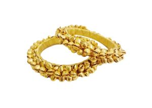 Buy Fashblush Forever Glam Golden Ghungroo Shine Alloy Bangle Set (pack Of 2) - (code - Fb26011) online