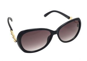 Buy Fashblush Retro Sneak Peek Over-sized Golden & Black Sunglasses For Women(product Code - Fb24112) online