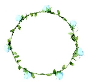 Buy Fashblush Forever New Roses Flower Leaf Tiara Head Band online