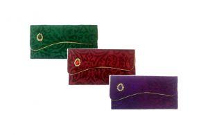 Buy Fashblush Designer Ethnic Festivity Glamour Envelopes(pack Of 3 Green, Maro online