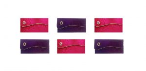 Buy Fashblush Designer Ethnic Festivity Glamour Envelopes(pack Of 6 Pink, Gold, online