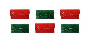 Buy Fashblush Designer Ethnic Festivity Glamour Envelopes(pack Of 6 Red, Green, online
