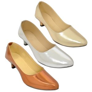 Buy Combo Pack Of Three Multicolor Ballerina For Women (code - 1501_3_1305_gol_sil_cop) online