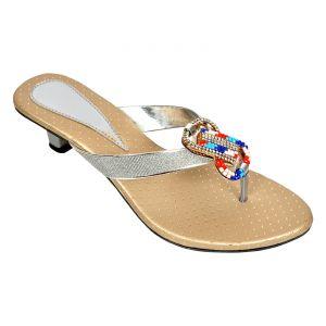 Buy Altek Shiny Comfort Silver Heel Sandal (product Code -foot_1341_silver) online