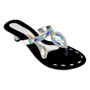 Buy Altek Shiny Comfort Silver Heel Sandal (product Code -foot_1344_silver) online