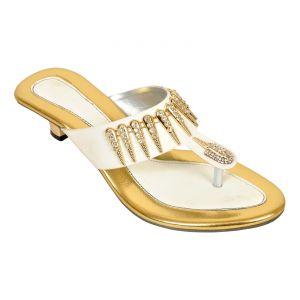Buy Altek Stony Golden Women Heel (product Code - Foot_1348_golden) online