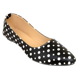 Buy Altek Stylish  Slip-On Black& White Ballerina For Women online