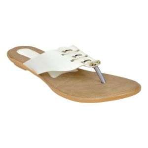 Buy Altek Comfort Stylish White Flats For Women online