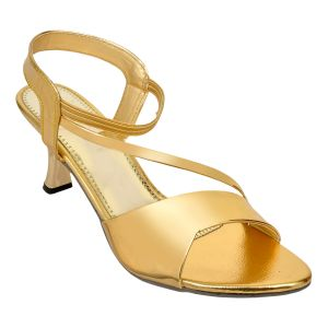 Buy Altek Stylish Gold Patent Heel For Women online