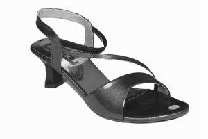 Buy Altek Stylish Shiny Black Sandal (product Code - S1314_black) online