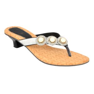 Buy Altek Designer Black Kitten Heel Sandal (product Code - S1316_black) online