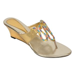 Buy Altek Stylish Shine Women Wedge Heel (product Code - S1319_gold) online