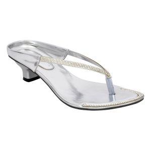 fa10fca70ac Buy Altek Designer Kitten Heel Silver Sandal (s158 silver) Online ...
