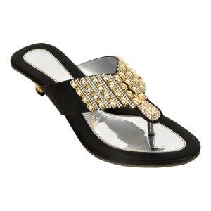 Buy Altek Stony Designer Women Heel (product Code - Foot_1348_black) online