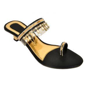 Buy Altek Trendy Shiny Black Women Heel (product Code - Foot_1349_black) online