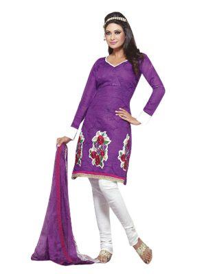 Buy Sinina Cotton Patiala Salwar Kameez Suit Unstitched Dress Material-10008 online