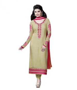 Buy Sinina Embridered Georgette Semi Stitched Dress Material online