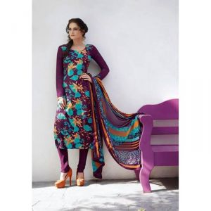 Buy Sinina Multi Color Un Stitched Pure Crepe Dress Material (code - 123tangy6407b) online