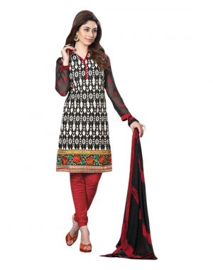 Buy Sinina Multi Color Un Stitched Cotton Embroidered Dress Material (code - 23lwb268) online