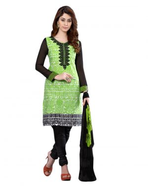 Buy Sinina Designer Embroidered Cotton Unstitched Dress Material online