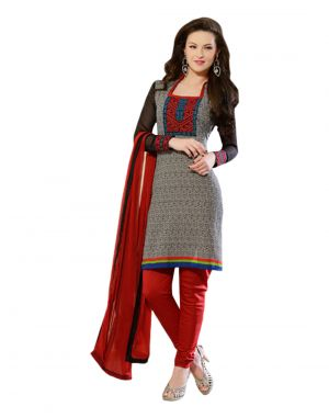 Buy Sinina Multi Color Un Stitched Cotton Embroidered Dress Material (code - 24lwb278) online