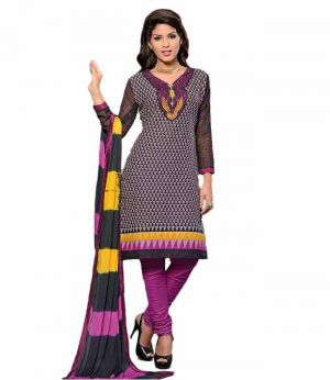 Buy Sinina Multi Color Un Stitched Cotton Embroidered Dress Material (code - 25lwb297) online