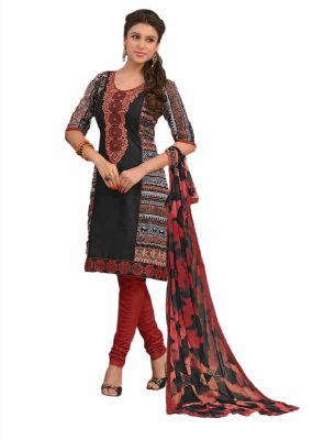 Buy Sinina Multi Color Un Stitched Cotton Embroidered Dress Material (code - 25lwb300) online