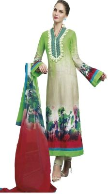 Buy Sinina Lawn Cotton Green Color Dress Material-redamber8322a online