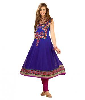 Buy Sinina Women's Georgette Semi Stitched Anarkali Suit Divine1011 online