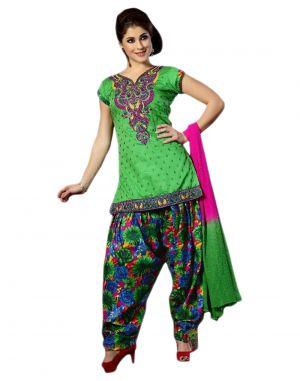 Buy Sinina Women's Patiala Cotton Dress Material online