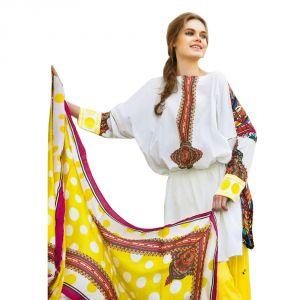 Buy Sinina Crepe White Color Unstitched Dress Material-redfcresham6453b online