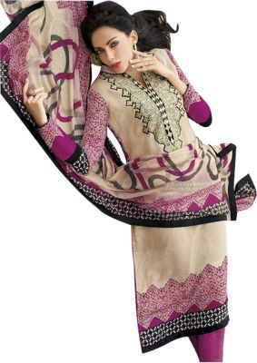 Buy Sinina Multi Color Un Stitched Pure Crepe Dress Material (code - Fcsapphire6400) online