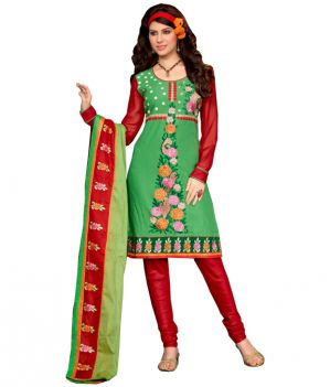 Buy Cotton Embroidered Salwar Kameez Suit Unstitched Dress Material online