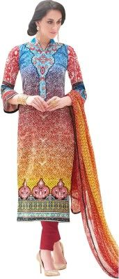 Buy Sinina Cotton Multi Color Dress Material-redfv312 online