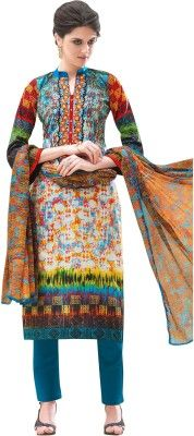 Buy Sinina Cotton Multi Color Dress Material-redfv313 online
