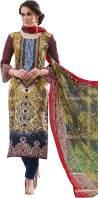 Buy Sinina Cotton Multi Color Dress Material-redfv314 online