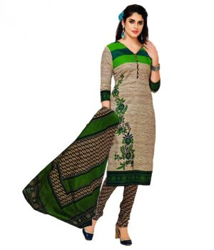 Buy Sinina Green Cotton Printed Unstitched Dress Material-sgp1412 online