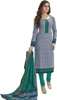 Buy Sinina Green Color Un Stitched Cotton Printed Dress Material (code - Sgp839) online