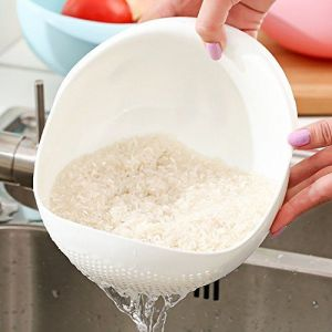 Buy Trioflextech Wash Rice Thick Sieve Pot Plastic Drain online