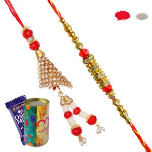 Buy Bhaiya Bhabhi Rakhi - Buy Rakhi And Lumba Set Online For Rakhi 2017 online