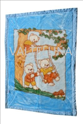 Buy Welhouse India Playing Bears Design Doube Ply Baby Mink Blanket online